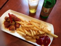 Currywurst and pils