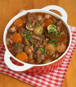 What wines and beers to match with meaty stews and casseroles