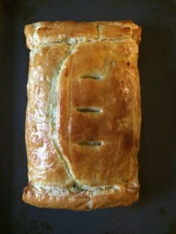 Fridge- or freezer-foraged cheese, onion and parsley pie