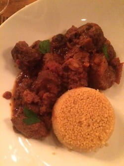 Lamb tagine with a chorizo-infused beer
