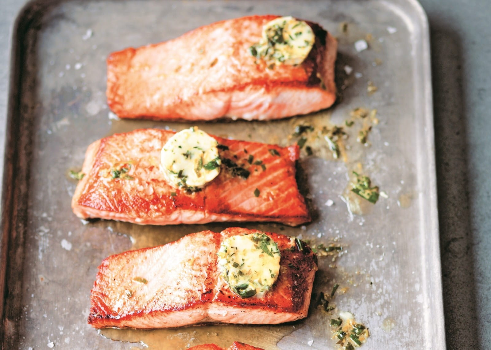 357e94742301 Salted Salmon with Tarragon Butter