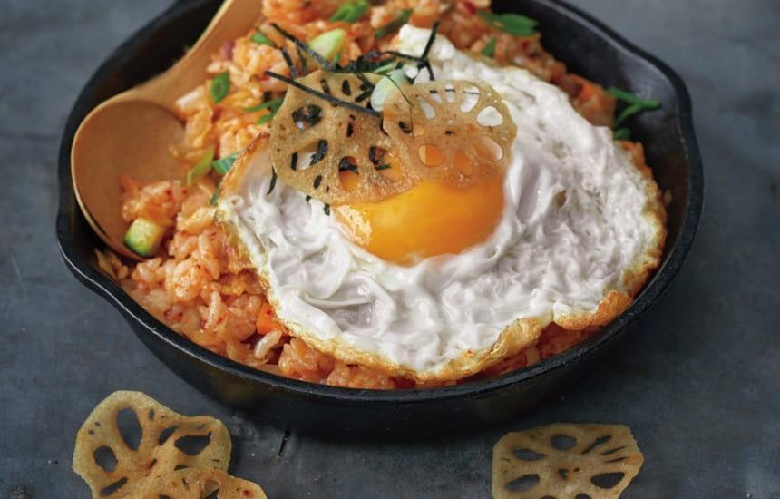 how to make kimchi rice