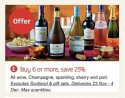 Sainsbury's red wine deals